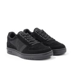 Polo Ralph Lauren Court Suede & Oxford Trainers - Black