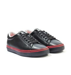 Polo Ralph Lauren Longwood Leather Trainers - Black & Red