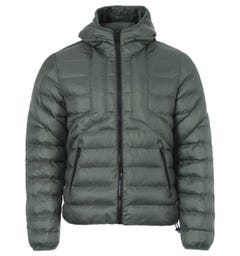 Diesel W-Dwain Quilted Hooded Jacket - Green