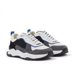 Android Homme Leo Carrillo Suede Mesh Trainers - White & Black