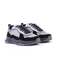 Android Homme Leo Carrillo Suede Mesh Trainers - Black & Grey