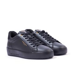 Android Homme Zuma Hybrid Python Leather Trainers - Black