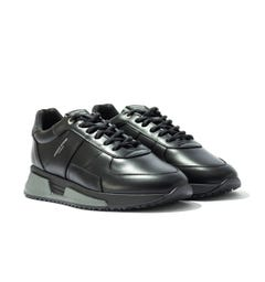 Android Homme Matador Reflective Leather Trainers - Black