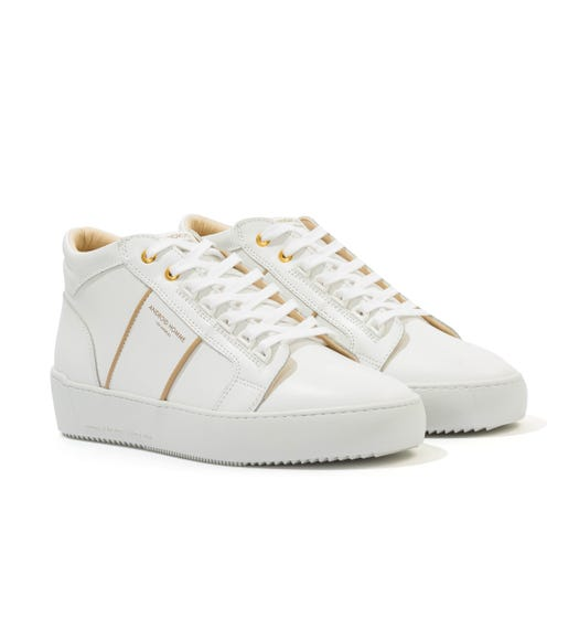 Android Homme Propulsion Mid Leather Contour Trainers - White