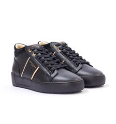 Android Homme Propulsion Mid Leather Contour Trainers - Black