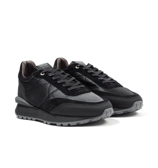 Android Homme Marina Del Ray Nylon Suede Trainers - Black