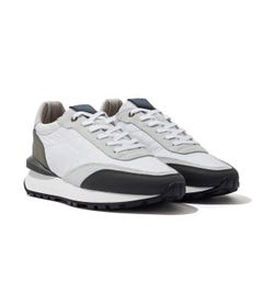 Android Homme Marina Del Ray Suede Ripstop Trainers - Light Grey & White