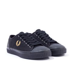 Fred Perry Hughes Low Canvas Trainers - Black
