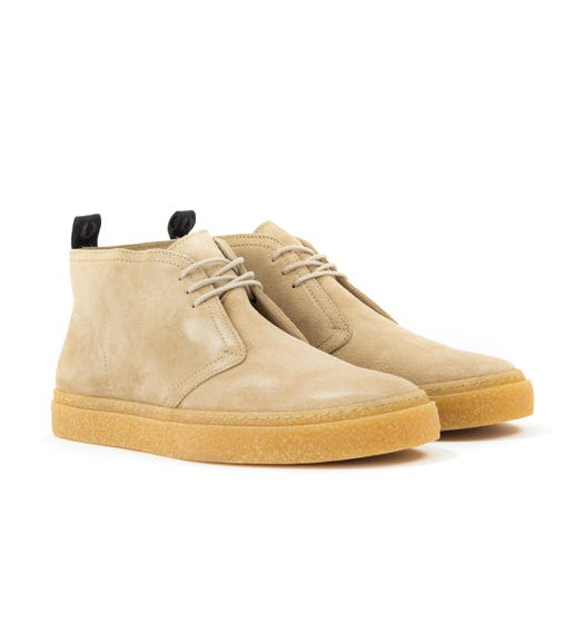 Fred Perry Hawley Suede Chukka Boots - Sand