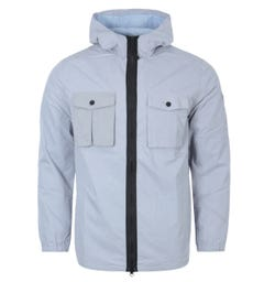 Forty Curtis Hooded Shirt Jacket - Ice Blue