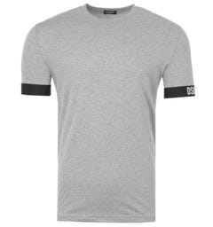 DSquared2 Oh Canada Stretch Cotton Round Neck T-Shirt - Grey Marl
