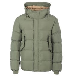 Pretty Green Thermo Bonded Hooded Puffer Jacket - Khaki