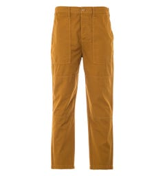 Edwin Block Garment Dyed Ripstop Trousers - Rubber Brown