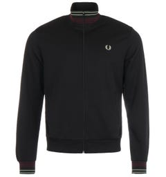 Fred Perry Lightweight Pique Track Jacket - Black