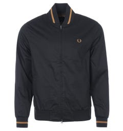 Fred Perry Tennis Bomber Jacket - Black & Gold