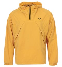 Fred Perry Half Zip Shell Hooded Jacket - Gold