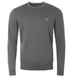 Fred Perry Classic Crew Neck Sweater - Gunmetal
