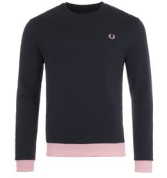 Fred Perry Contrast Trim Sweatshirt - Navy