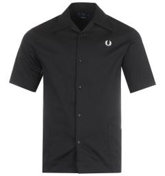 Fred Perry Reissues Short Sleeve Beach Shirt - Black