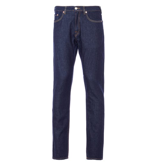 PS Paul Smith Organic Cotton Tapered Fit Jeans - Indigo Rinse