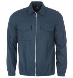 PS Paul Smith Technical Wool Jacket - Navy