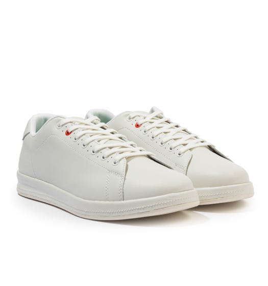 PS Paul Smith Bugs Leather Trainers - White
