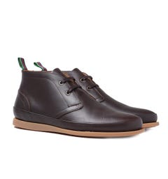 PS Paul Smith Cleon Leather Boots - Chocolate Brown