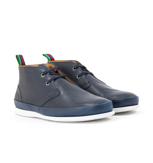 PS Paul Smith Cleon Leather Boots - Dark Navy