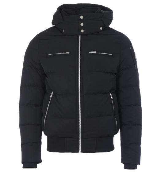 Moose Knuckles Peace River Sustainable Bomber Jacket - Black