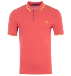 Fred Perry M3600 Twin Tipped Polo Shirt - Summer Red