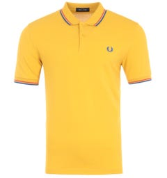 Fred Perry M3600 Twin Tipped Polo Shirt - Dijon Yellow