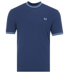 Fred Perry Reissues Pique Crew Neck T-Shirt - French Navy