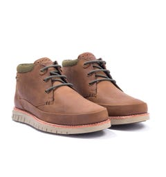 Barbour Nelson Leather Chukka Boots - Choco