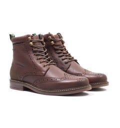Barbour Seaton Brogue Boots - Brown