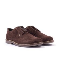 Barbour Raby Suede Derby Shoe - Chocolate