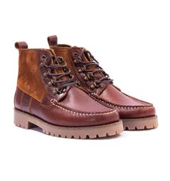 Barbour Topsail Leather & Suede Boots - Cognac