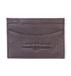 Barbour Amble Leather Card Holder - Brown