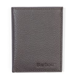 Barbour Amble Small Grained Leather Billfold Wallet - Brown