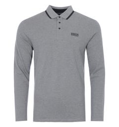 Barbour International Axle Long Sleeve Polo Shirt - Anthracite Marl