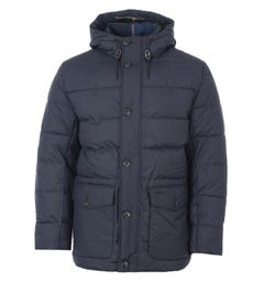 Barbour Mobury Quilted Hooded Jacket - Navy