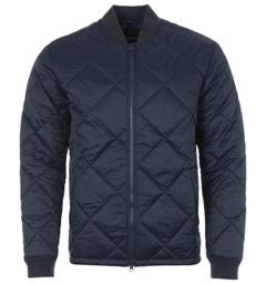 Barbour Umble Diamond Quilted Bomber Jacket - Navy