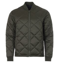 Barbour Umble Diamond Quilted Bomber Jacket - Sage