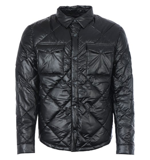 Barbour Gold Standard CPO Quilted Overshirt - Black