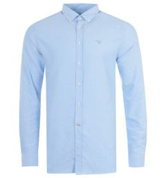 Barbour Oxford Tailored Fit Shirt - Sky Blue