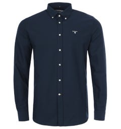 Barbour Oxford Tailored Fit Shirt - Navy