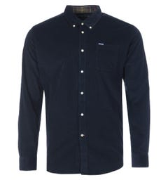 Barbour Ramsey Corduroy Tailored Fit Button Down Shirt - Navy