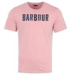 Barbour Lomand Logo T-Shirt - Faded Pink