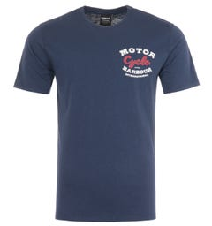 Barbour International Tyre Graphic T-Shirt - Blue
