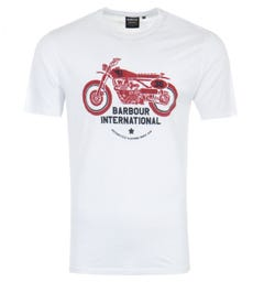 Barbour International Tyre Graphic T-Shirt - White