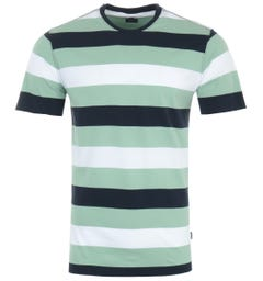 Barbour Edwards Stripe Organic Cotton T-Shirt - Navy, White & Faded Apple